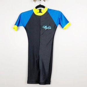 NWT Kids black and blue wet suit Sz 10